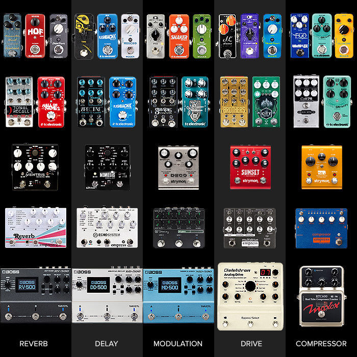 Ultimate 5 Pedal Pedalboards