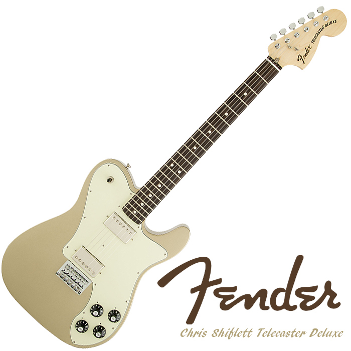 Fender Chris Shiflett Telecaster Deluxe (Shoreline Gold) - £789