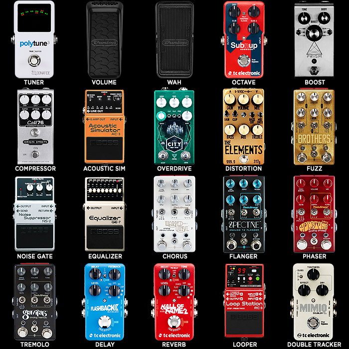20 Key Guitar Effects Pedal Types - Preferred Compact Pedal per Type