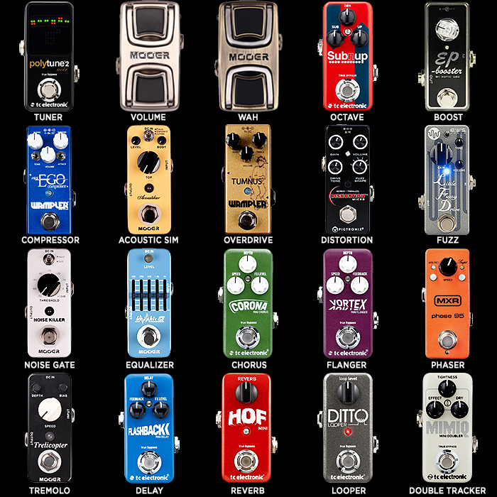 20 Key Guitar Effects Pedal Types - Preferred Mini Pedal per Type