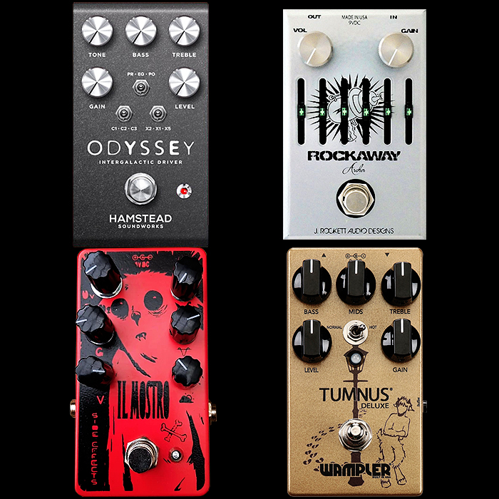 4 of the Best and Most Versatile Overdrive Pedals Released in 2017