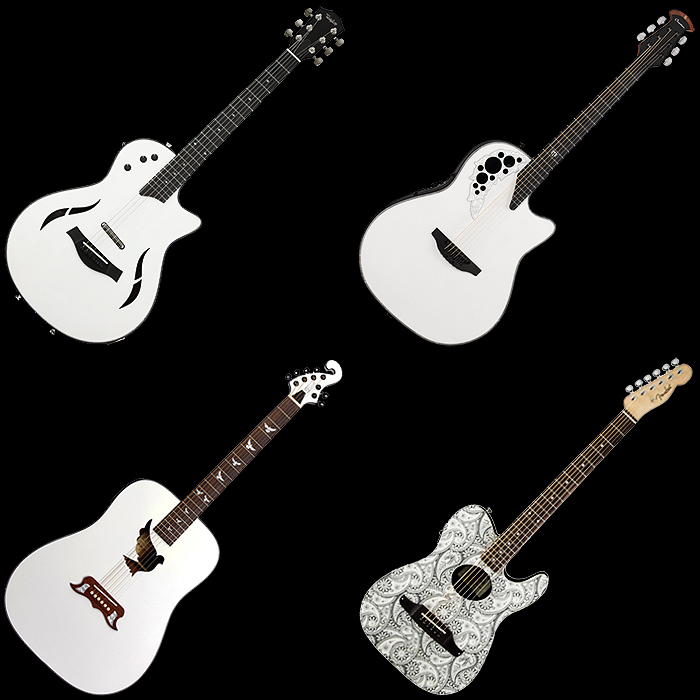 4 Cool and Unusual White Electric Acoustic Guitars