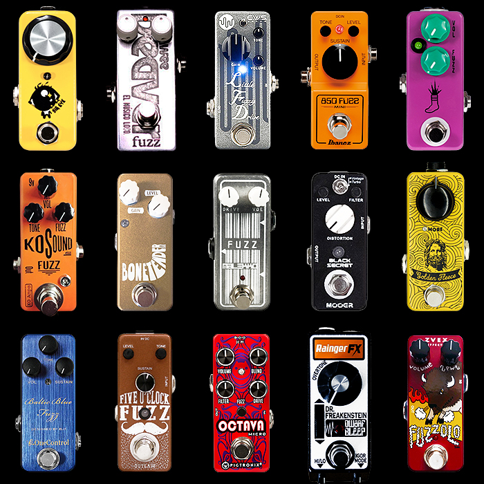 15 of the Best Mini Fuzz Pedals - 2018 Edition