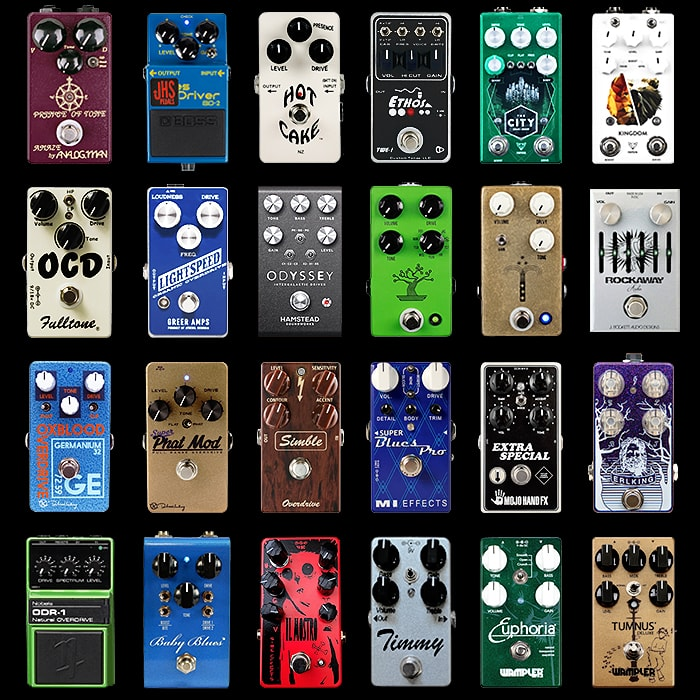24 of the Best Overdrive Pedals - 2018 Compact Edition