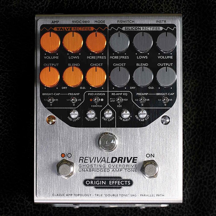 Origin Effects Announces Premium RevivalDrive 2-Channel Overdrive & Distortion Pedal