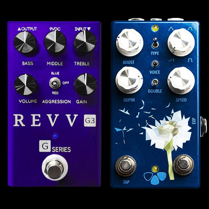 2 Cool New Forthcoming Pedals - REVV Amps G3 and Flower Pedals Dandelion Harmonic Tremolo