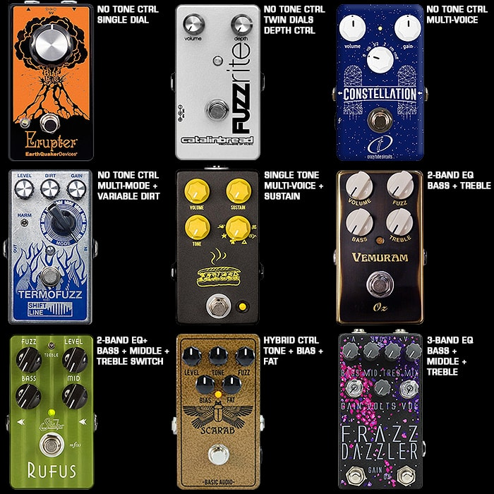 Guitar Pedal Tone Controls - an Overview