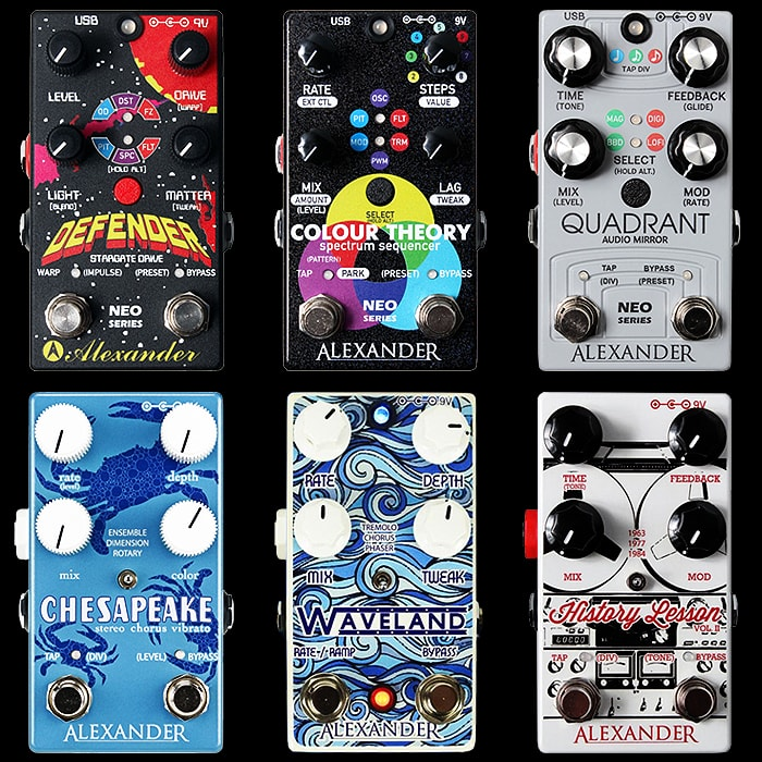 Twin Footswitch Alexander Pedals New / NEO and Old