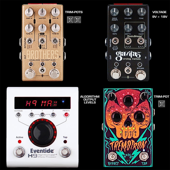 Guitar Pedal Volume Drop Issues and Solutions and the need for expansive Output Level Control