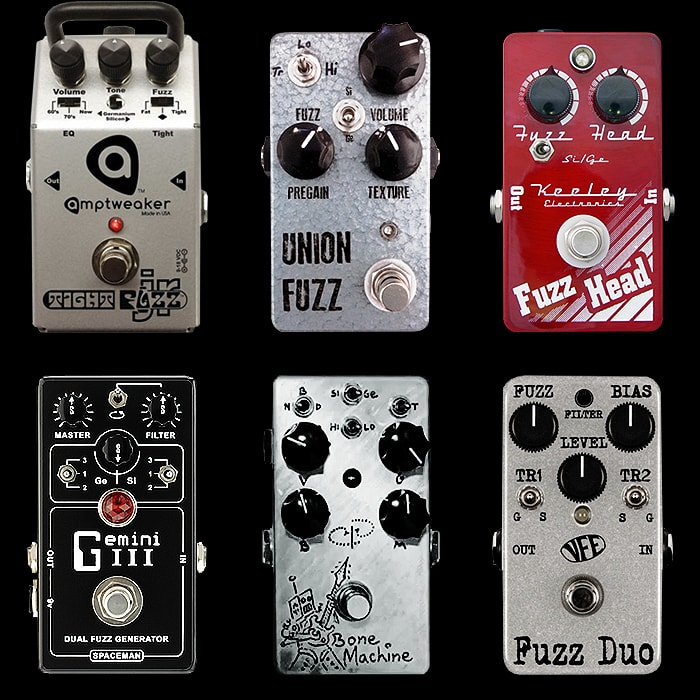 6 Cool Germanium and Silicon Switchable Fuzz Pedals