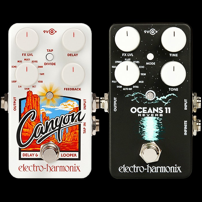 Electro-Harmonix releases Oceans 11 Reverb companion pedal to the Canyon Delay & Looper