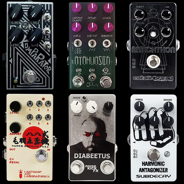6 Intriguing Compact Oscillating/Tremolo Fuzz Pedals