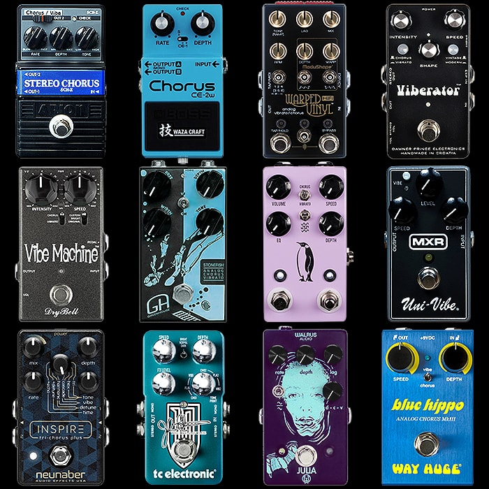 12 of the Best Compact Chorus+Vibrato Pedals
