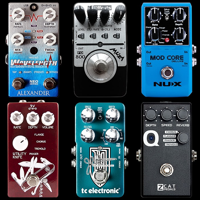 6 Compact Multi-Modulation Pedals for Your Consideration