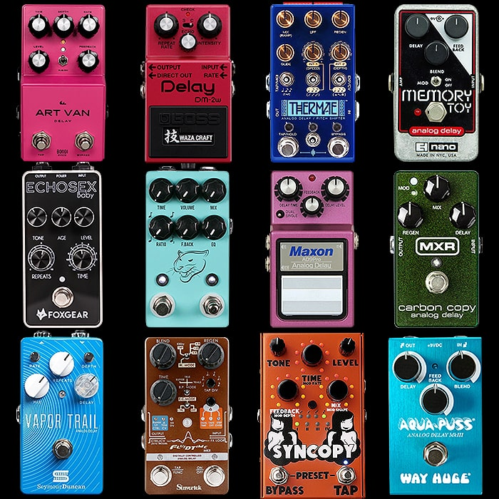 12 of the Best Compact Analog Delay Pedals