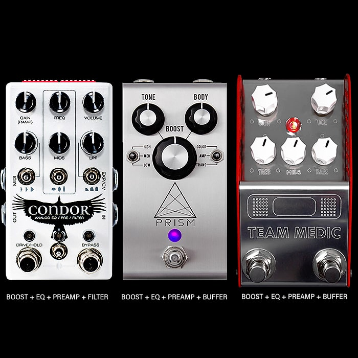 3 of the Best Next Level Compact Boost + EQ + PreAmp Pedals