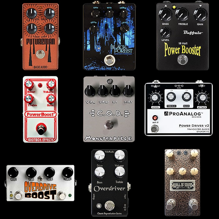 9 Practical Modern Colorsound Power Boost Style Pedals