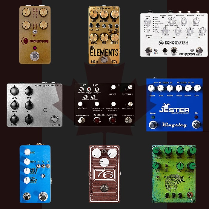 Best of Canadian Guitar Pedals and Pedal Builders