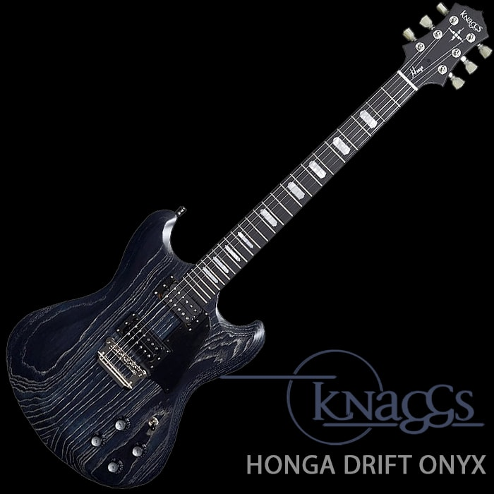 Knaggs Honga Tier 3, Swamp Ash Electric Guitar, Drift Onyx - £2,595