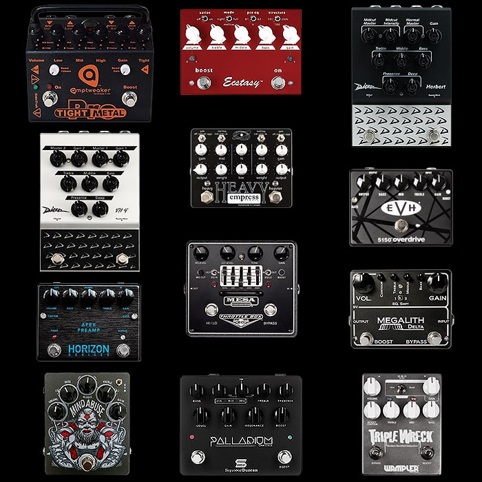 12 of the Best Medium and Large High Gain / Metal style Distortion Pedals