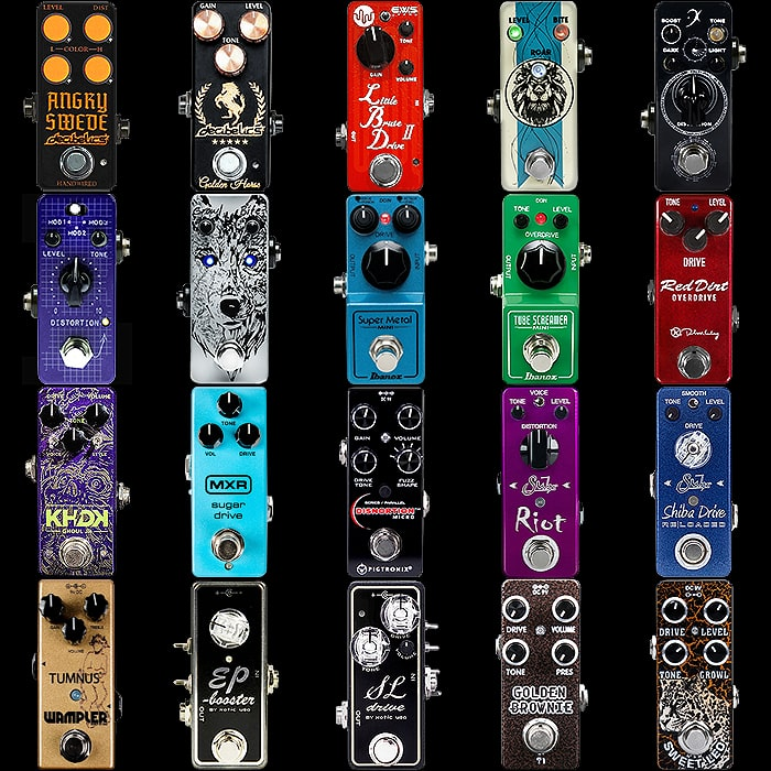 20 Favourite Boutique Style Mini Drive and Distortion Pedals