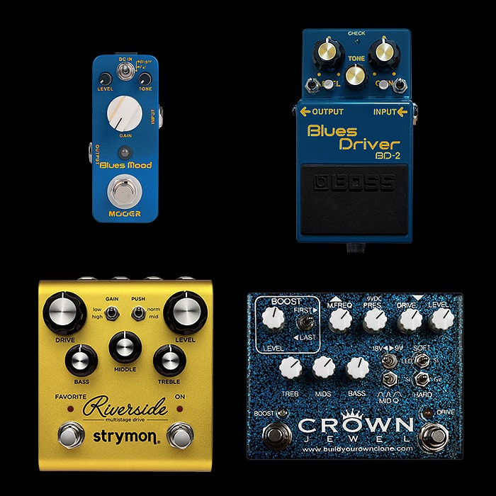 Best of Mini, Compact, Medium and Large Blues Driver Style Pedals