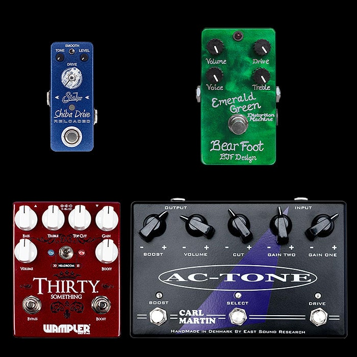 Best of Mini, Compact, Medium and Large Cranked / Top Boosted Vox Style Pedals