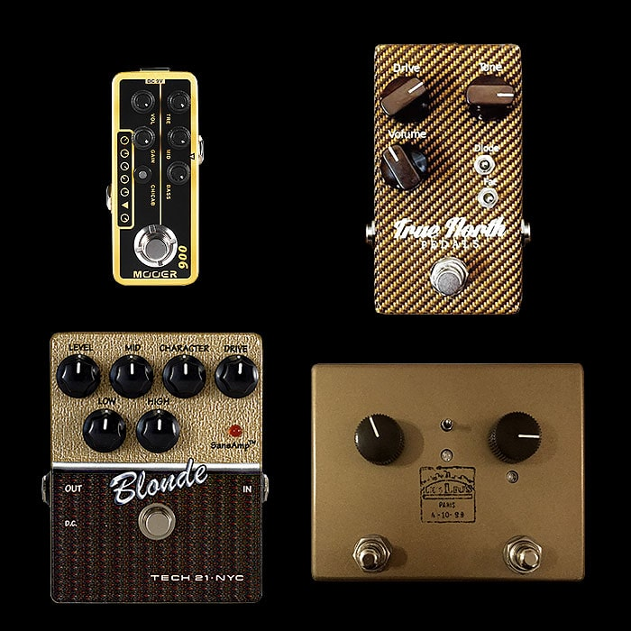 Best of Mini, Compact, Medium and Large Tweed Drive Style Pedals