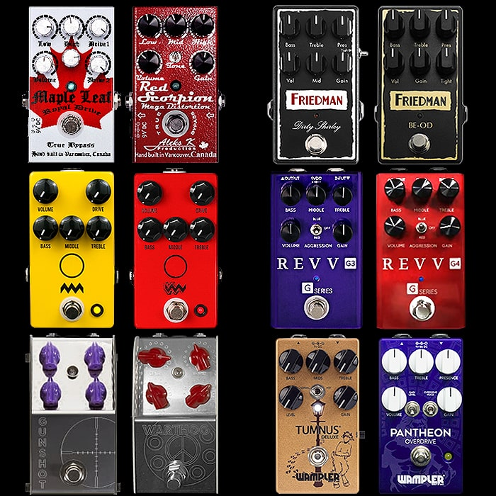 6 Potent Pairings - Superbly Articulate Compact Overdrive and Distortion Pedal Pairs