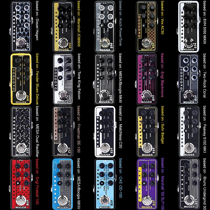 Which are the Best of the Mooer Micro PreAmp Pedals?
