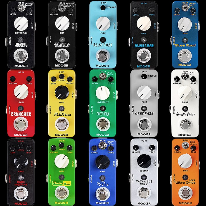 A Quick Overview on the Best of the Mooer Mini Drives, Fuzzes and Distortions and their Alternatives