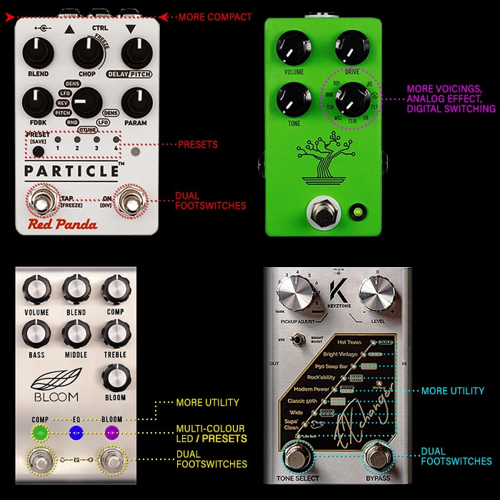 4 Key Guitar Pedal Trends for 2019 - Smarter Pedals, More Voicings, Multi-Colour LEDs, and More Utility