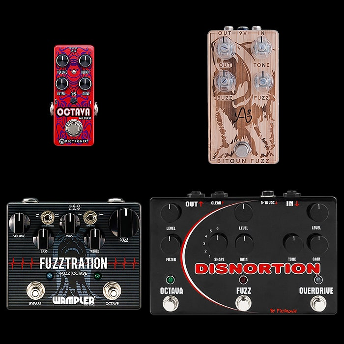 Best of Mini, Compact, Medium and Large Octave Fuzz Pedals
