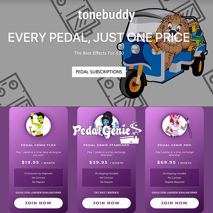 The UK now has its own Pedal Rental Subscription Service ToneBuddy - how does it compare to the industry standard Pedal Genie?