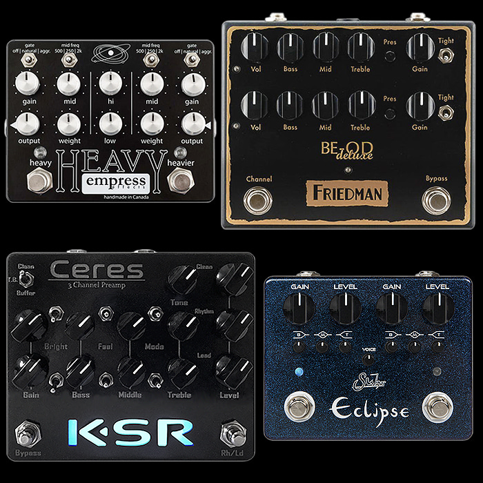 4 of the Best 2 Channel High Gain Distortion Pedals