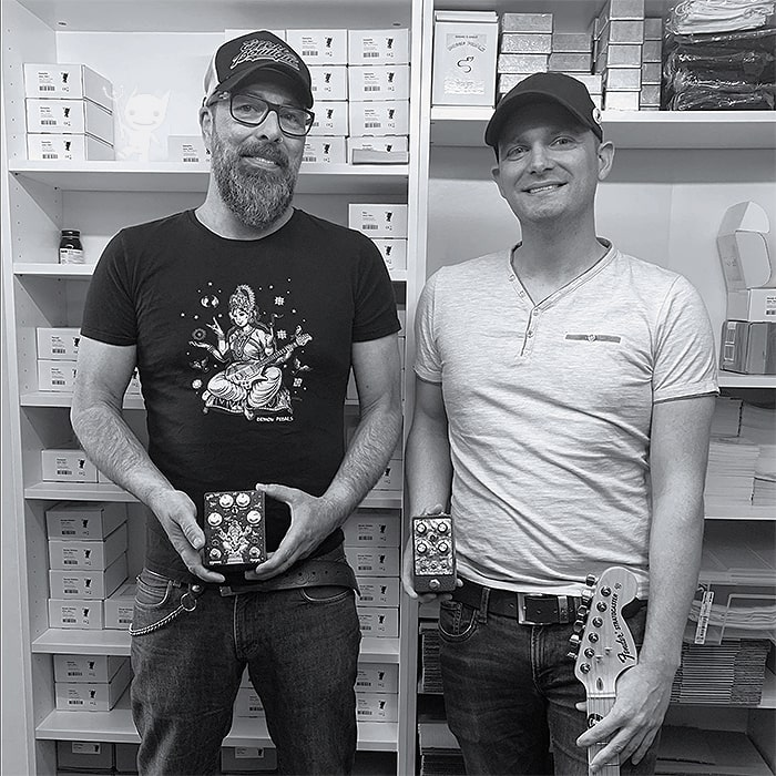Pete & Matthias at Demon Pedals HQ