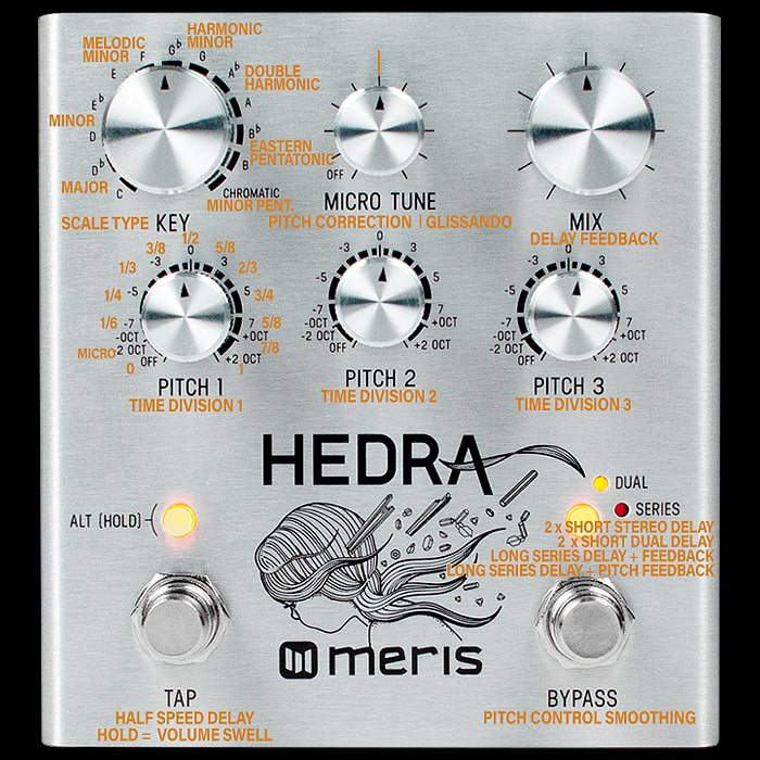 Meris's New Hedra 3 Voice Rhythmic Pitch Shifter is its most accessible pedal yet and is the first to claim a fixed slot in my Pedal-Chain