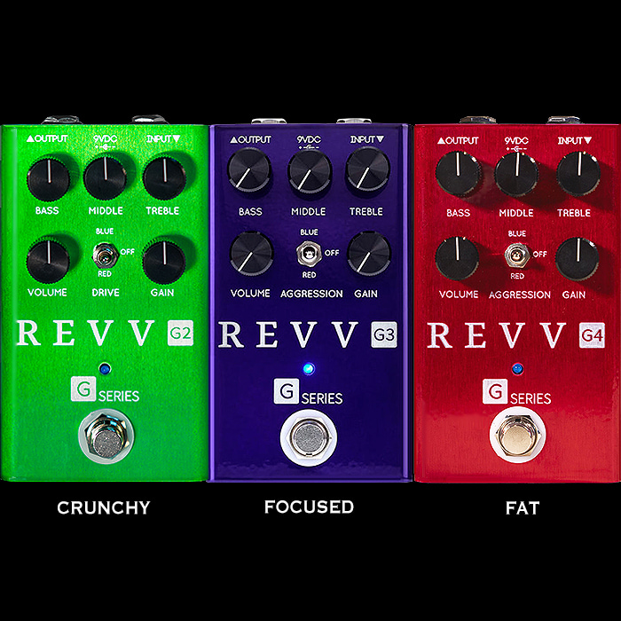 REVV Amplification Completes its G120 Pedaliteration Trifecta with the G2 Crunchy Drive!