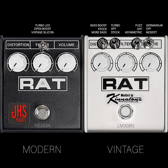 A Tale of 2 Rats - JHS and Kinnatone Modded ProCo Rat 2 Pedals