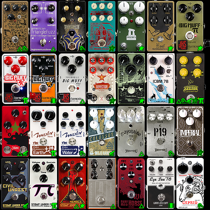 28 of The Best Compact Big Muff Fuzz Pedals - All 7 Key Varieties