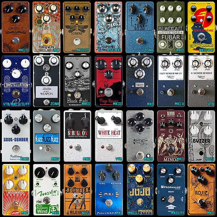28 of the Best Compact Tone Bender Style Fuzz Pedals - All 9 Varieties!
