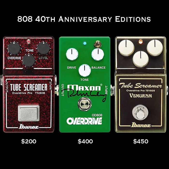 808 Overdrive 40th Anniversary Editions - An Odd Assortment?