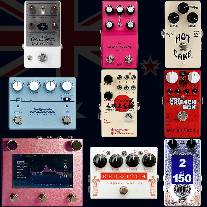 Best of Australian and New Zealander Guitar Pedals and Pedal Builders