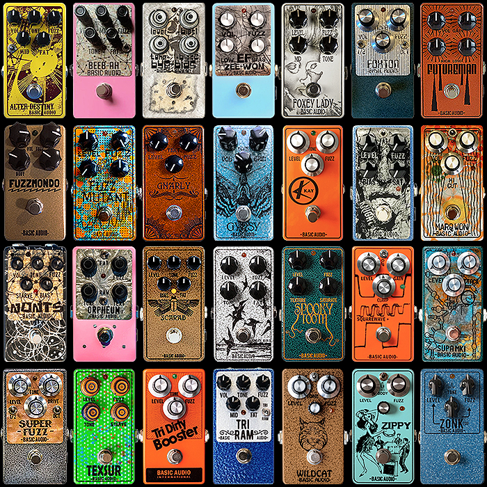 Basic Audio Compact Pedals A to Z = 28+ Fantastic Flavours of Fuzz since 1998