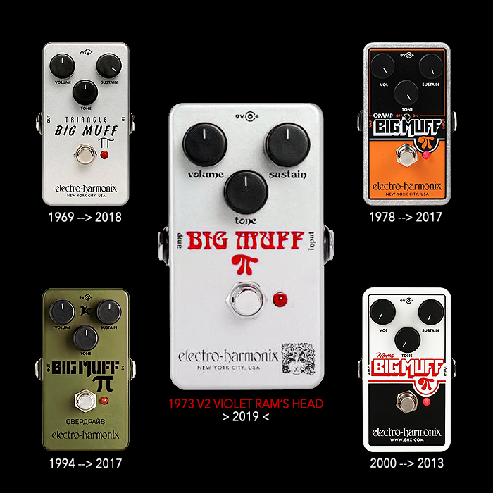 Electro-Harmonix Unveils 5th Nano Big Muff Pi Reissue - the 1973 V2 Violet Ram's Head Edition