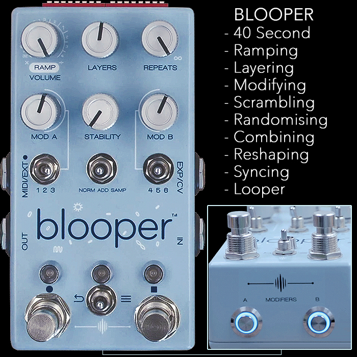 Chase Bliss Audio Curiously Sets Up Kickstarter for forthcoming Blooper Looper Pedal - and Reaches Goal within 5 Hours and 17 Minutes!