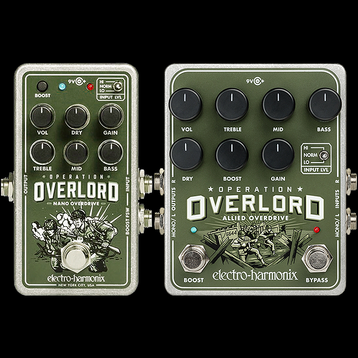 Electro-Harmonix Shrinks its Super Versatile JFET-based Operation Overlord Allied Overdrive