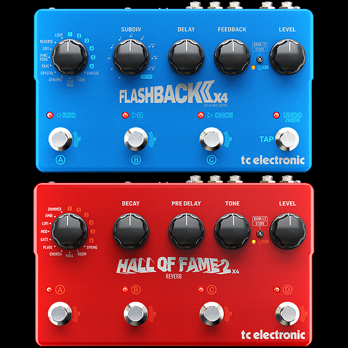 TC Electronic Releases Improved and New Flashback 2 X4 Delay and Hall of Fame 2 X4 Reverb Workstations