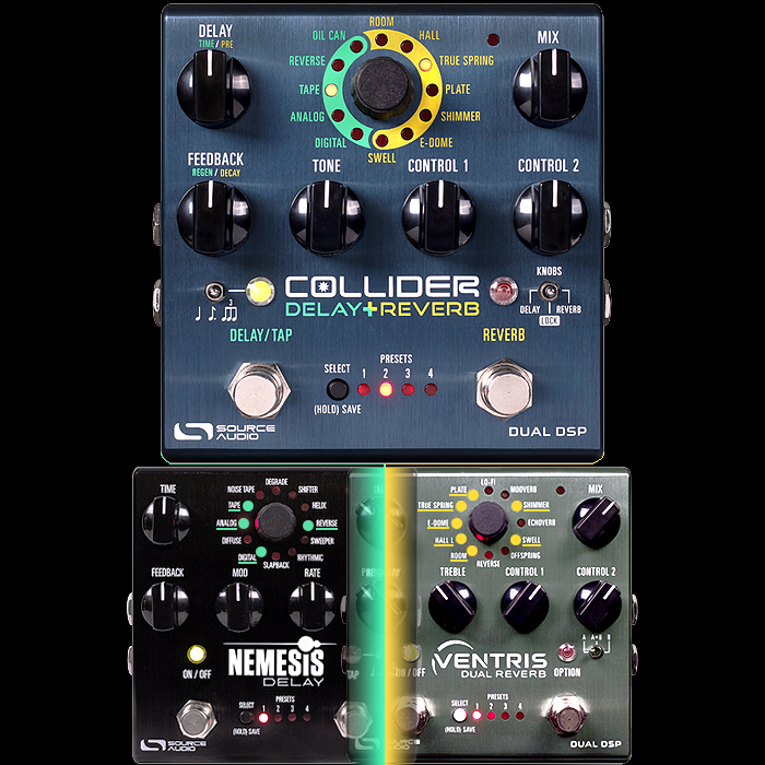 Source Audio Merges Nemesis with Ventris to Create Combined New Collider Delay+Reverb Workstation