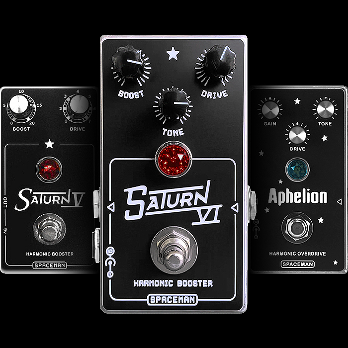 Spaceman Effects Expands Range with Unlimited Standard Edition Saturn VI Harmonic Booster and Low-Gain Overdrive